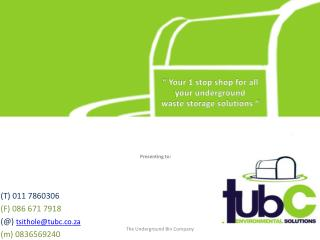 (T) 011 7860306 (F) 086 671 7918 (@)  tsithole@tubc.co.za (m) 0836569240