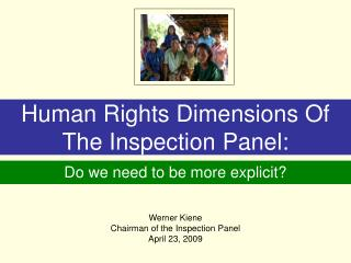 Human Rights Dimensions Of The Inspection Panel:
