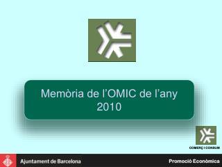 Memòria de l'OMIC de l'any 2010