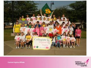 2012 Komen Central  Virginia Race  for the Cure ® 15th Anniversary