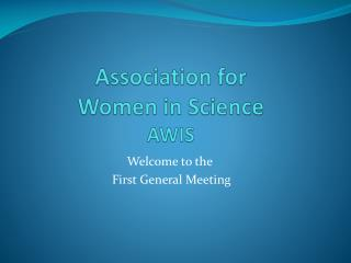 Association for  Women in Science AWIS