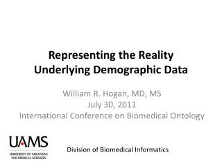 Representing the Reality Underlying Demographic Data