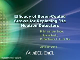 Efficacy of Boron-Coated Straws for Replacing  3 He  Neutron Detectors