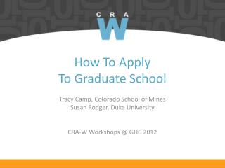 How To Apply  To Graduate School