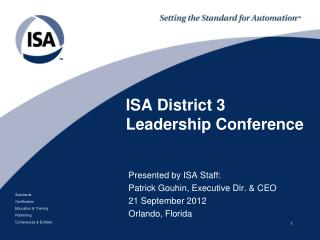 ISA District  3 Leadership Conference