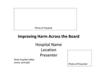 Improving Harm Across the Board Hospital Name Location Presenter
