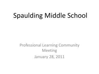 Spaulding Middle School