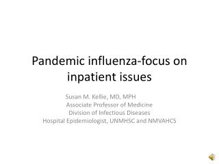 Pandemic influenza-focus on inpatient issues