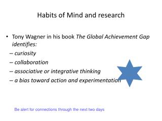 Habits of Mind and research