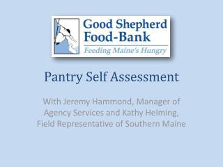 Pantry Self Assessment