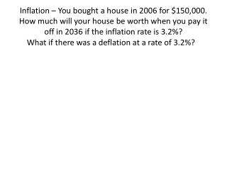 What if there was a deflation at a rate of 3.2%?