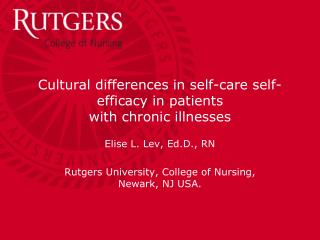 Cultural differences in self-care self-efficacy in patients  with chronic illnesses