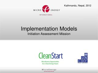 Implementation  Models Initiation  Assessment  Mission