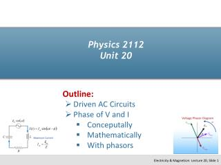 Physics 2112 Unit 20