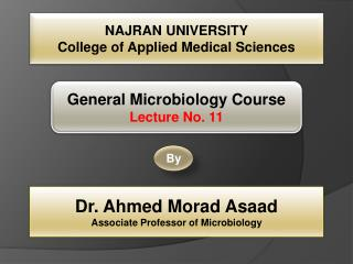 NAJRAN UNIVERSITY College of Applied Medical Sciences