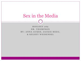 Sex in the Media