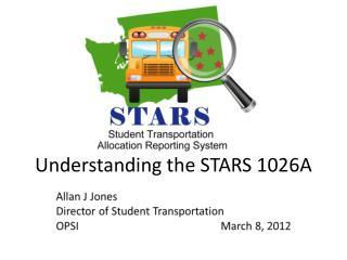 Understanding the STARS 1026A