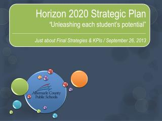 "Horizon 2020 Strategic Plan "" Unleashing each student's potential"""