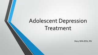 Adolescent Depression Treatment