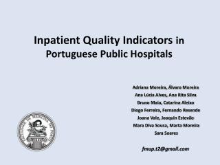 Inpatient Quality Indicators  in Portuguese Public Hospitals