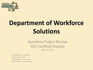 Department of Workforce Solutions