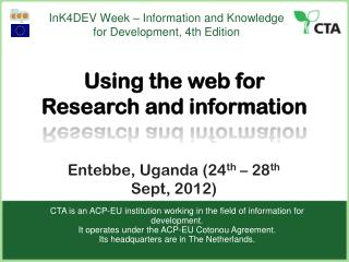 InK4DEV Week – Information and Knowledge for Development, 4th Edition