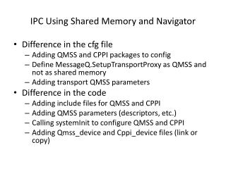 IPC Using Shared Memory and Navigator
