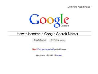 How to become a Google Search Master