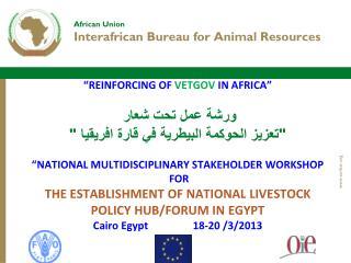 Reinforcing Veterinary Governance in Africa