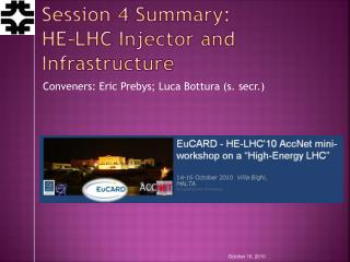 Session 4 Summary: HE-LHC Injector and Infrastructure