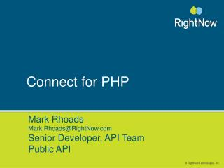 Connect for PHP