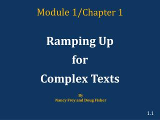 Module 1/ Chapter 1