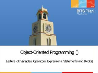 Object-Oriented Programming  ()