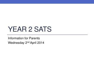 Year 2 SATS