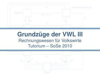 Grundzüge der VWL III  Rechnungswesen für Volkswirte Tutorium –  SoSe  2010