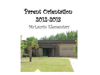 Parent Orientation 2012-2013