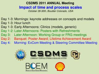 CSDMS 2011 ANNUAL Meeting  Impact  of time and process  scales