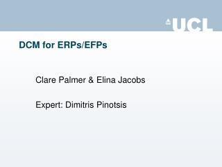 DCM for ERPs/EFPs