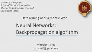 Data Mining and Semantic Web