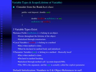 Variable  Types & Scope(Lifetime of Variable)