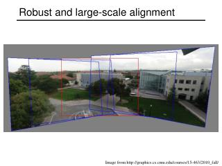 Robust and large-scale alignment