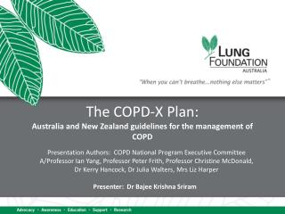 The COPD-X Plan: Australia and New Zealand guidelines for the management of COPD