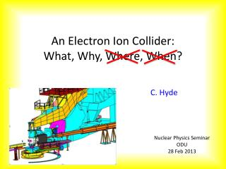 An Electron Ion Collider: What, Why, Where, When?