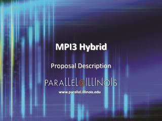 MPI3 Hybrid