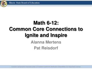 Math 6-12: Common Core Connections to Ignite and Inspire