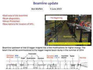 Beamline update