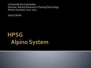HPSG     Alpino System