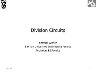 Division Circuits