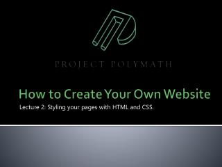 How to Create Your Own Website