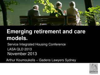 Emerging retirement and care models.